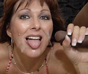 Nude Cum on Mature Face Porn Pictures